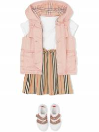 Burberry Kids - down-filled hooded puffer gilet 66509596905600000000