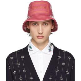 Gucci Pink Montecarlo Crystal Bucket Hat 576371 4HG80