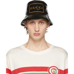 Gucci Black Montecarlo Crystal Bucket Hat 576371 4HG80