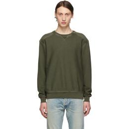 Frame Khaki Destroyed Sweatshirt 192455M20400105GB