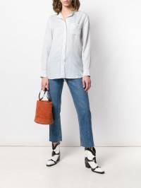 A.P.C. - рубашка с воротником-стойкой в полоску 360ACAAQ933603650000