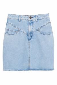 Джинсовая голубая юбка Sandro 914125536