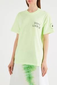 Салатовая футболка с надписью Natasha Zinko 1529135233