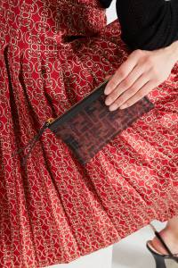 Сетчатая косметичка с монограммой FF Fendi 1632135267