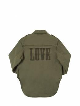 Рубашка Из Хлопкового Габардина Zadig & Voltaire 70IOFQ038-NjU20