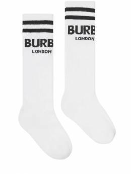 Носки Из Хлопкового Трикотажа С Логотипом Burberry 69IVT8058-QTE0NjQ1