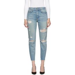 Grlfrnd Blue Butt Slit Karolina Jeans 192966F06901606GB