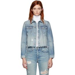 Grlfrnd Blue Denim Cara Jacket 192966F06000304GB