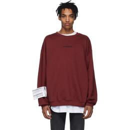 Vetements Red Logo Sweatshirt 192669M20800102GB