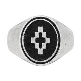 Marcelo Burlon County Of Milan Silver and Black Cross Ring 192539M14700101GB