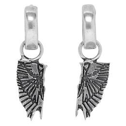 Marcelo Burlon County Of Milan Silver Wings Pendant Hoop Earrings 192539M14400501GB