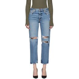 Grlfrnd Blue Ripped Knee Helena Jeans 192966F06901103GB