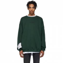 Vetements Green Logo Sweatshirt 192669M20401204GB