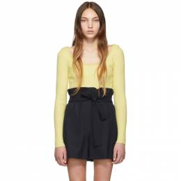 3.1 Phillip Lim Yellow Cropped Sweater 192283F09600902GB