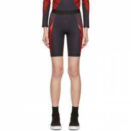 Givenchy Black and Red Neoprene Bike Shorts 192278F08800301GB
