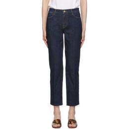 Frame Blue Le High Straight Raw Edge Jeans 192455F06902202GB