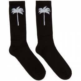 Palm Angels Black Palm Socks 192695M22000402GB