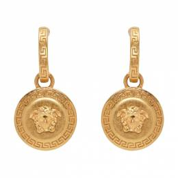Versace Gold Medusa Tribute Pendant Earrings 192404F02200901GB