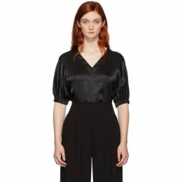 3.1 Phillip Lim Black Puff Sleeve Blouse 192283F10700102GB
