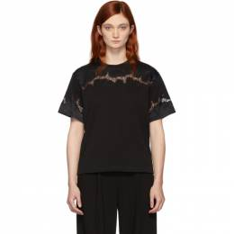 3.1 Phillip Lim Black Lace Insert T-Shirt 192283F11000101GB