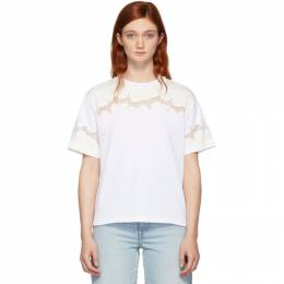 3.1 Phillip Lim White Lace Insert T-Shirt 192283F11000201GB