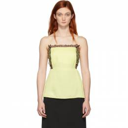 3.1 Phillip Lim Yellow Square Front Tank Top 192283F11100101GB