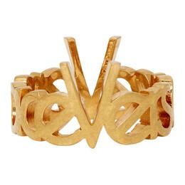Versace Gold Vintage Logo Ring 192404M14700405GB