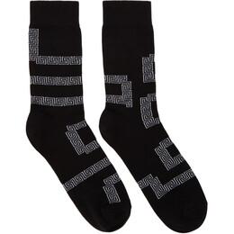 Versace Black Greek Socks 192404M22000902GB