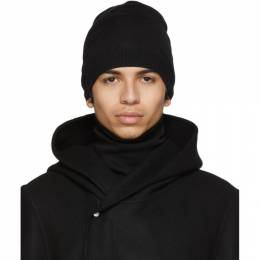 Rick Owens Black Wool Medium Beanie 192232M13800201GB