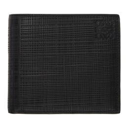Loewe Black Linen Bifold Wallet 192677M16401701GB