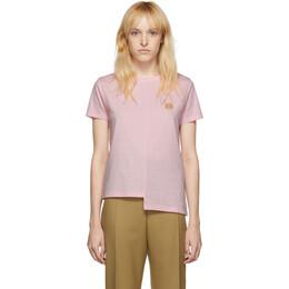 Loewe Pink Asymmetric Anagram T-Shirt 192677F11000602GB