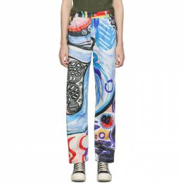 Charles Jeffrey Loverboy Multicolor Art Jeans 192101F06900101GB