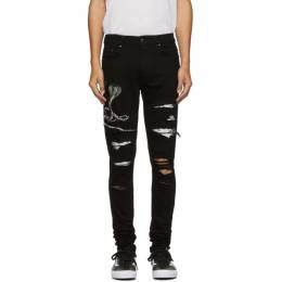 Amiri Black Snake Patch Jeans 192886M18600606GB
