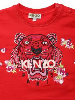 Хлопковый Свитшот С Фирменной Вышивкой Kenzo Kids 70I6TC007-Mzg1