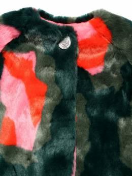 Пальто Из Искусственного Меха С Принтом Kenzo Kids 70I6TB008-NTc1