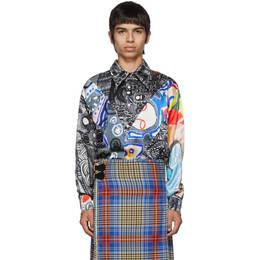 Charles Jeffrey Loverboy Multicolor Silk Art Shirt 192101M19200201GB