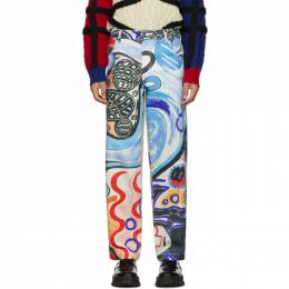 Charles Jeffrey Loverboy Multicolor Art Jeans 192101M18600103GB