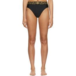 Versace Underwear Black Empire Bikini Bottoms 192653F10500502GB