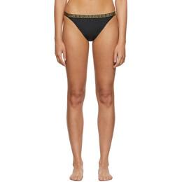 Versace Underwear Black Small Empire Bikini Bottom 192653F10500804GB
