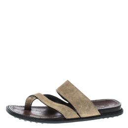 Tod's Beige Suede Cross Strap Sandals Size 40 151100