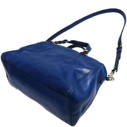 Celine Navy Blue Leather Satchel Bag 150108