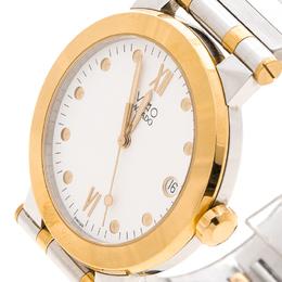 Movado White Two Tone Vizio Men's Watch 35MM 146002