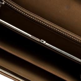 Celine Brown Coated Canvas Macadam Continental Wallet 144423