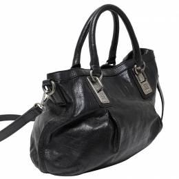 Givenchy Black Monogram Leather Satchel Bag 140844