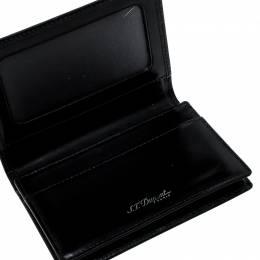S.T. Dupont Black Glazed Leather Card Case 142122