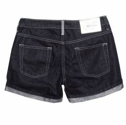 GF Ferre Indigo Dark Wash Metallic Denim Shorts S Gianfranco Ferre