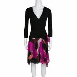 Diane Von Furstenberg Multicolor Printed Riviera Wrap Dress S 135786