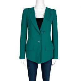 Sonia Rykiel Emerald Green Tailored Blazer S 133323