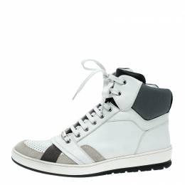 Dior Homme Tri Color Leather High Top Sneakers Size 39.5 137401