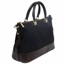 Givenchy Bicolor Monogram Canvas/Leather Satchel Bag 128752
